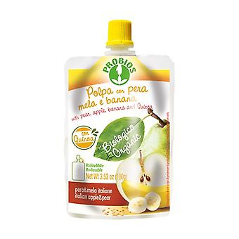 Pear manzana plátano quinua pulpa - doypack pack 100 g