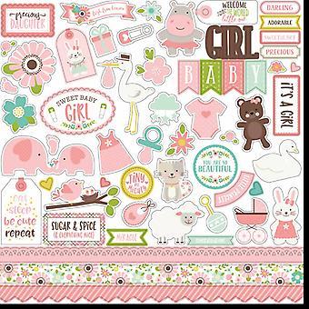 Echo Park Sweet Baby Girl 12x12 Inch Element Sticker