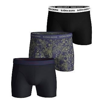 Bjorn Borg Men's Boxer Shorts 3 Pack ~ Fiji Flower