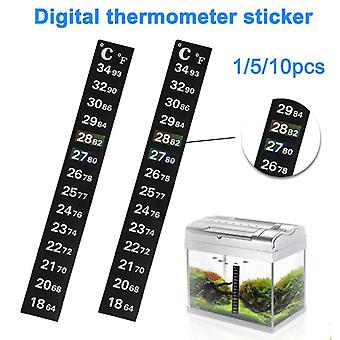 Fish Tank Aquarium Thermometer Temperature Strip Stick On Degree Celsius