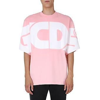 Gcds Cc94m02100606 Heren's Pink Cotton T-shirt