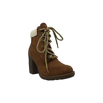 Esprit Hero Memory Foam Block-Heel Booties Damen's Schuhe
