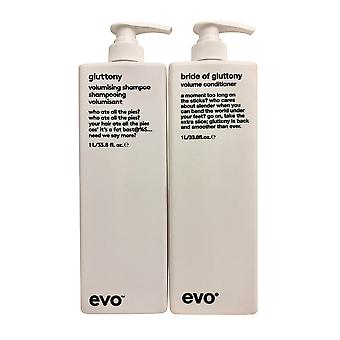 evo Gulzigheid Volumising Shampoo & Conditioner Set 33.8 OZ Elk