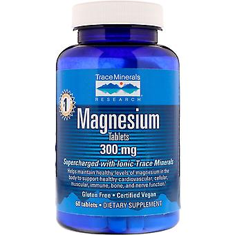 Trace Minerals Research, Magnesium, 300 mg, 60 Tabletten