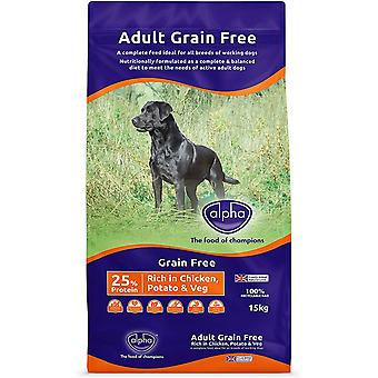 Alpha Grain Free Gazdag csirkeburgonya és zöldség - 15kg