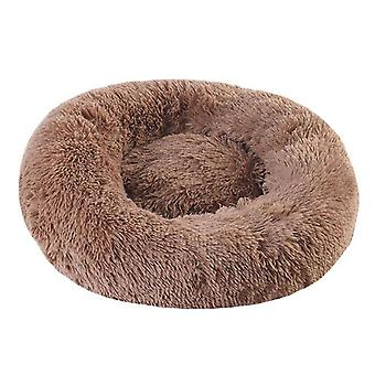 Round Bed Long Plush Basket For Dog