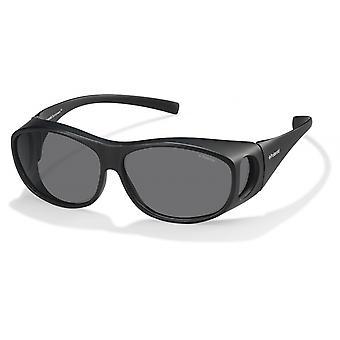 نظارات شمسية للجنسين 9005/SDL5/Y2 بيضاوي أسود/ رمادي