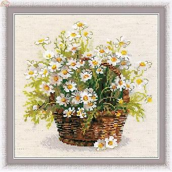 Beautiful Lovely Counted Cross Stitch Kit Riolis 1478 Daisy Camomile Chamomile Flowers