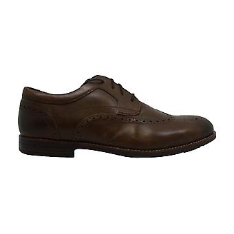 Rockport Mens business wings Leather Lace Up Casual Oxfords