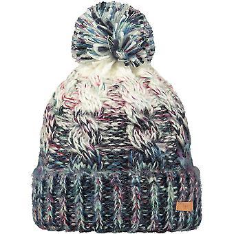Barts Womens Iska Knitted Pom Pom Space Dyed Warm Beanie Hat