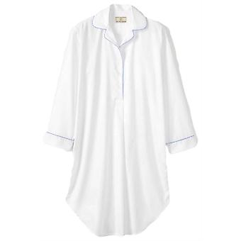 British Boxers Satin Stripe Nightshirt - White