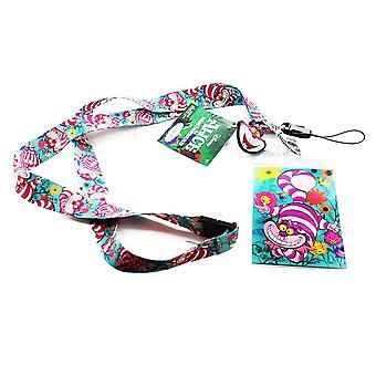 Lanyard - Disney - Alice in the Wonderland Chesire Cat w/Soft Touch Dangle
