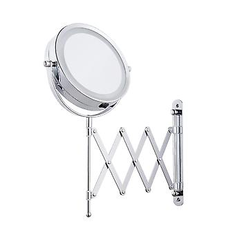 Led Cosmetic Mirror Magnification, Wall Mounted - Dual Arm Extend 2-face