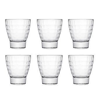 Bricks Tumbler Glass, 280ml, Set of 6