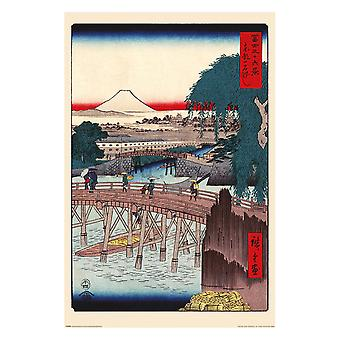 Hiroshige, Maxi Poster - Pont d'Ichikoku