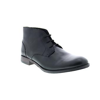 Clarks Flow Top  Mens Black Leather Lace Up Chukkas Boots