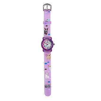 Waterproof Luminous LED Digital Touch Children watch  - purple