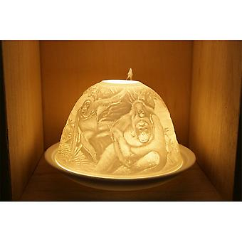 Nordic Lights Candle Shade & Plate - Chimpanzee