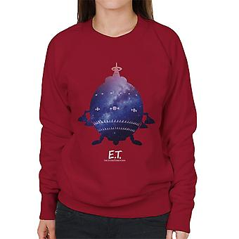 E.T. Spacecraft Galactic Silhouette Women's Sweatshirt