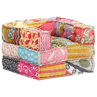 vidaXL Modułowa pouf patchwork fabric