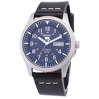 Seiko 5 Sport Snzg11k1-ls14 Automatische schwarze Lederarmband Herren's Uhr