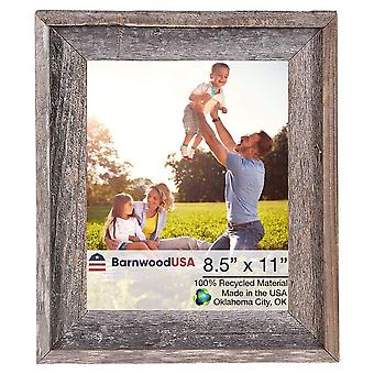 "8.5"" x 11"" Natural Weathered Gray Picture Frame"
