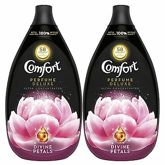 2 Pack Comfort Perfume Deluxe Divine Petals Fabric Conditioner, 58 Washes