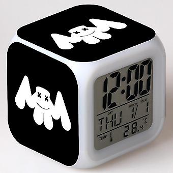 Colorful Multifunctional LED Children's Alarm Clock -Marshmello #10