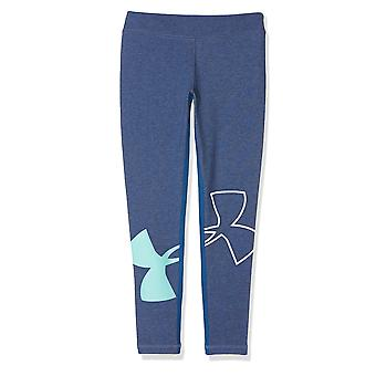 Under Armour Finale Knit Kids Girls Sports Legging Tight Blue