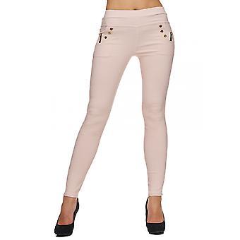 Ladies Stretch Pants Skinny Leggings Treggings Plus Size Trousers Big Size Jeans