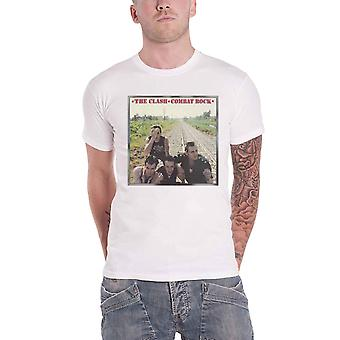 The Clash T Shirt Combat Rock Band Logo new Official Mens White