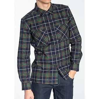 Edwards Green & Navy Check Flannel Shirt