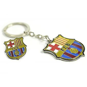 Barcelona FC Wappen Schlüsselanhänger und Abzeichen Set