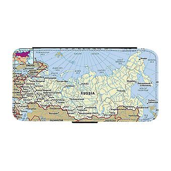 Map of Russia iPhone 12 / iPhone 12 Pro Wallet Case