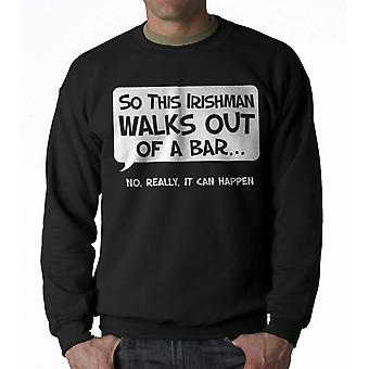 Humor So An Irishman Men's Black Sweatshirt