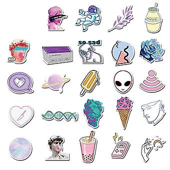 Vaporwave Art Style Sticker For Laptop Computer Skateboard Luggage Refrigerator