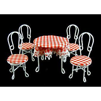 Puppen Haus Miniatur Cafe Bistro Wintergarten Garten Möbel Tisch & Stühle