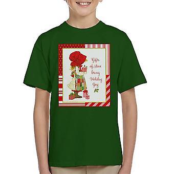 Holly Hobbie julegaver af kærlighed Bring Holiday Joy Kid's T-shirt