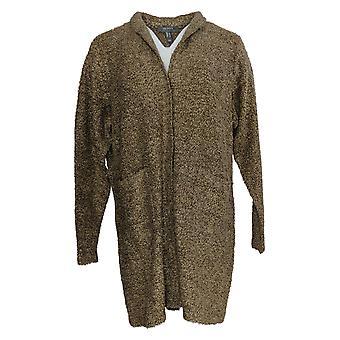 Lisa Rinna Colección Mujer's Suéter Acogedor Duster Marrón A385469