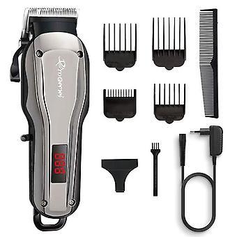 Kraftfull Sladdlös professionell hårklippare Barber hår trimmer & elektriskt hår