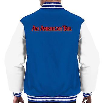 Ein amerikanischer Schwanz klassische rote Text Logo Männer's Varsity Jacke