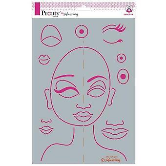 Pronty Crafts Special Face A4 Stencil