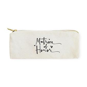 Matron Of Honor-cotton Canvas Pencil Case And Travel Pouch