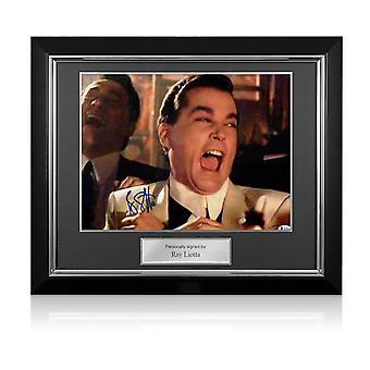 Ray Liotta Signeeraa Goodfellas Kuva: Funny Guy. Deluxe Frame
