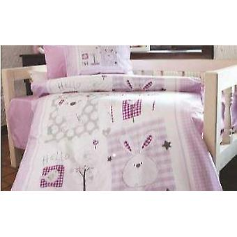 Iepure Violet Flannel Baby Plavet Cover Set
