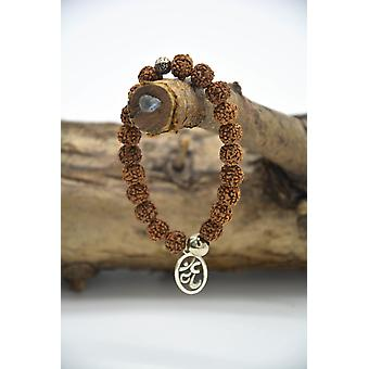 Om Symbol Rudraksha Seed Bracelet