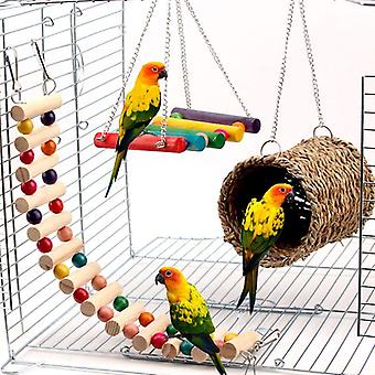 Parrot Cage Toy Squirrel Hamster Squirrel Hammock Bird Nest Swing Ladder