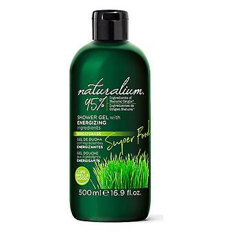 Shower Gel Super Food Wheatgrass Energizing Naturalium (500 ml)