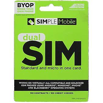 Cartão Simples Móvel BYOP Dual SIM para T-Mobile