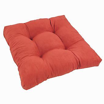Coussin de chaise à manger tufted microsuede carré de 19 pouces - Cardinal Red
